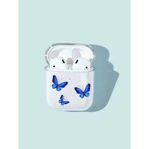 Navy Blue Butterflies AirPods Case 🦋